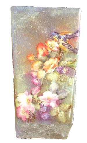 Creare insieme lezioni corsi per hobby creativi for Decoupage su vaso di vetro